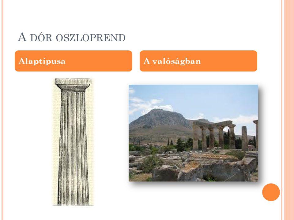 K ORSZAKOK Az ókori görög építészet felosztása korszakokra