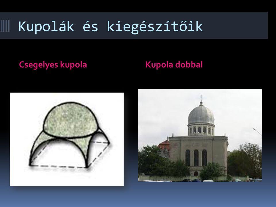 Oszlopok és kupolák bemutatása Alapelemek