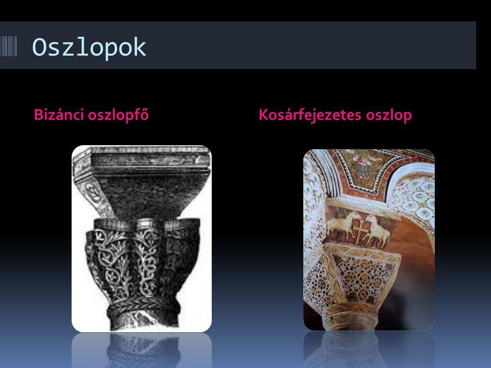 Oszlopok Bizánci oszlopfőKosárfejezetes oszlop