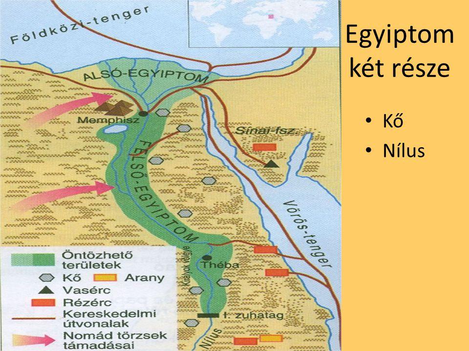 Egyiptom két része Kő Nílus