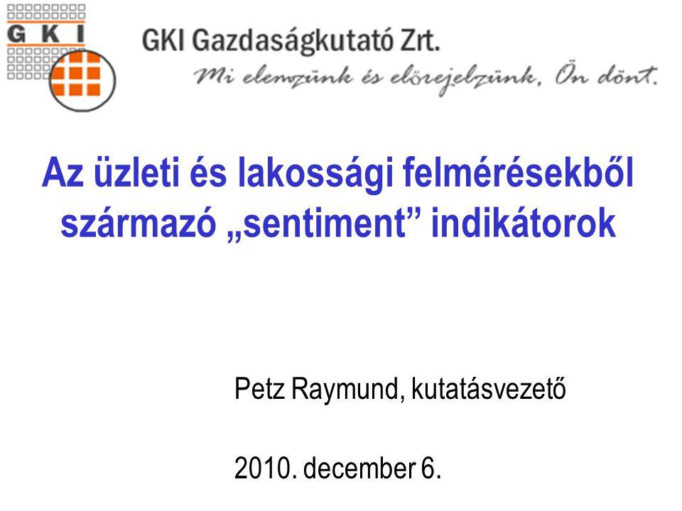 Cím Petz Raymund, kutatásvezető 2010. december 6.