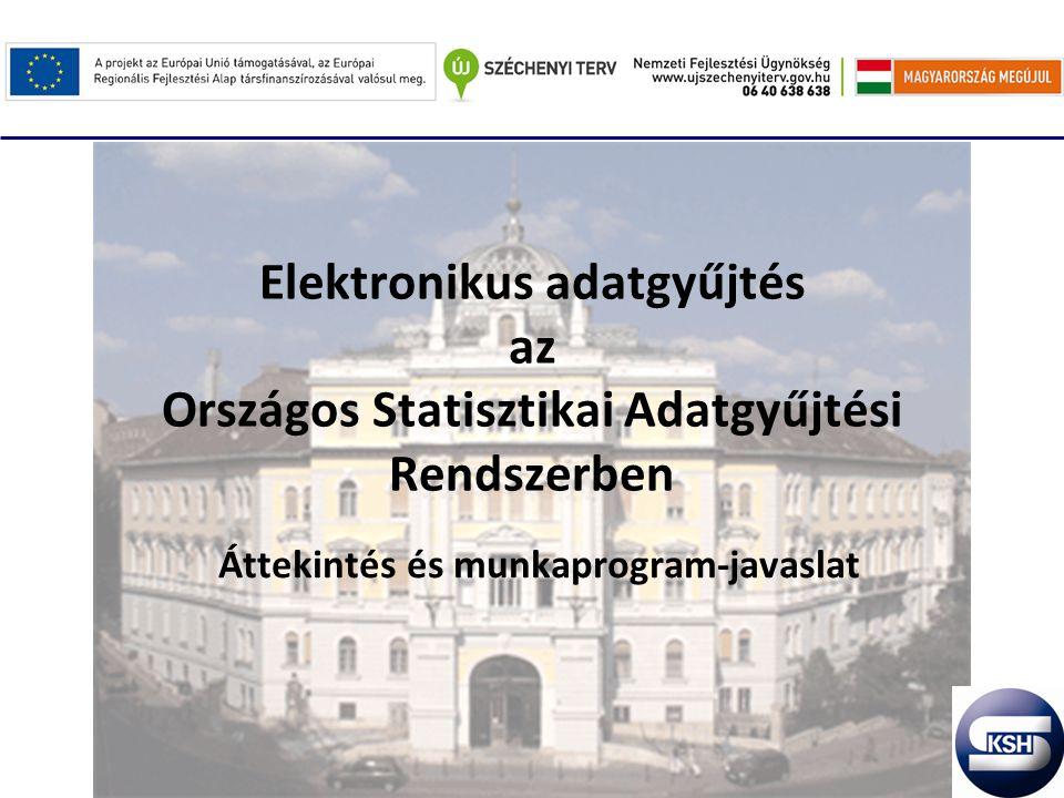 Elektronikus adatgyűjtés az Országos Statisztikai Adatgyűjtési Rendszerben Áttekintés és munkaprogram-javaslat