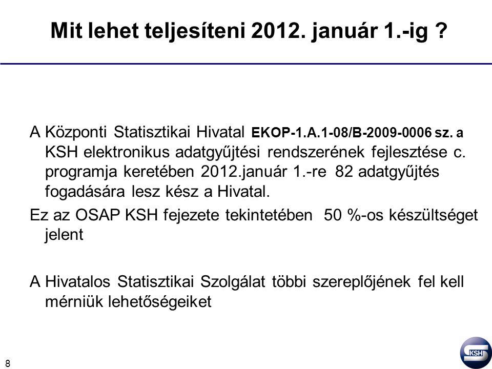 8 Mit lehet teljesíteni 2012. január 1.-ig .