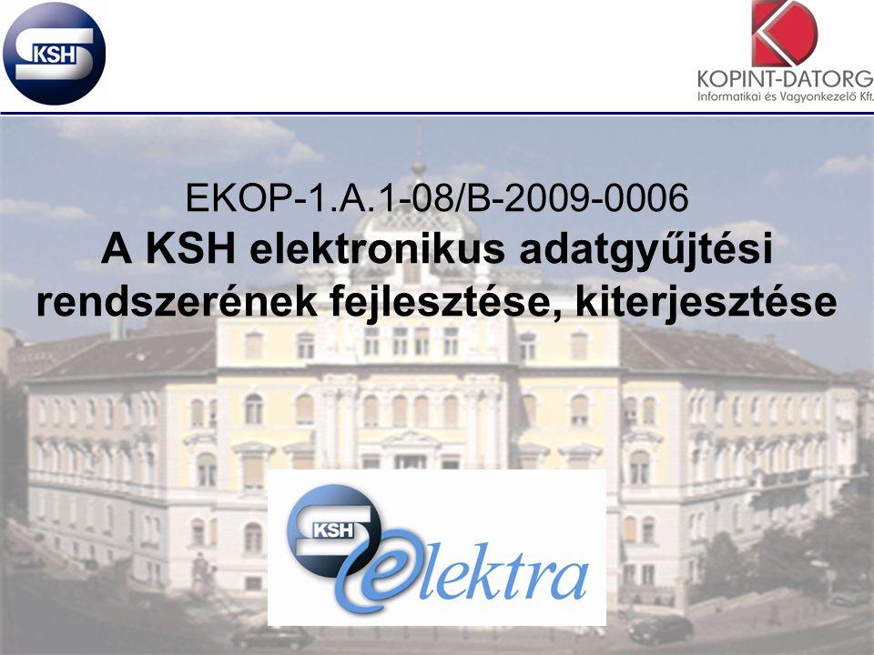 2 Az EKOP projekt A projekt előkészítése még 2009-ben kezdődött –Az EKOP-ra vonatkozó támogatási szerződés 2009.11.20-lett megkötve –Az első közbeszerzési kiírás vissza lett vonva, az ismételt kiírás 2010 szeptemberében történt meg –A Vállalkozóval 2011.01.06-án kötöttünk szerződést.
