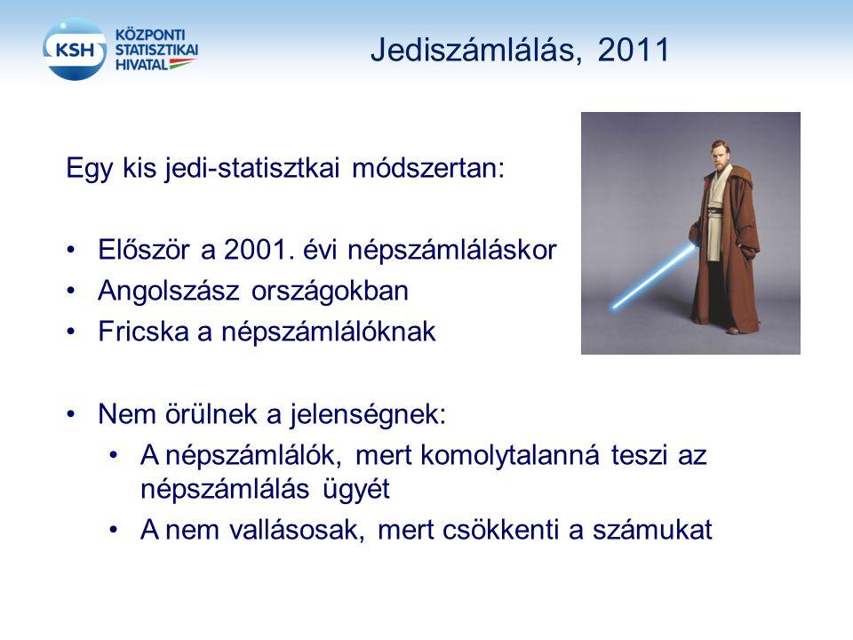 Jediszámlálás, 2011 Egy kis jedi-statisztkai módszertan: Először a 2001.