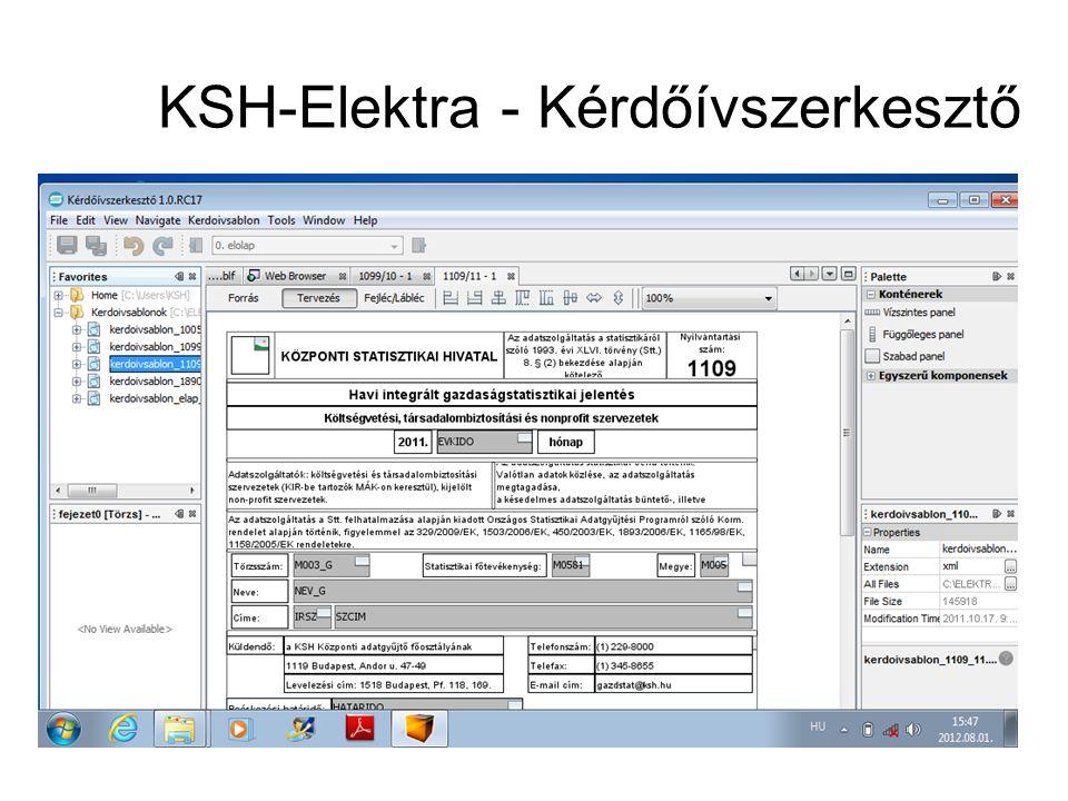 KSH-Elektra - Kérdőívszerkesztő