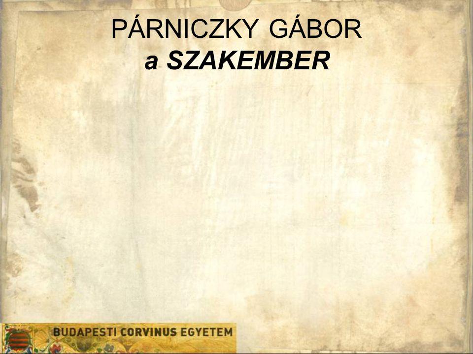 PÁRNICZKY GÁBOR a SZAKEMBER