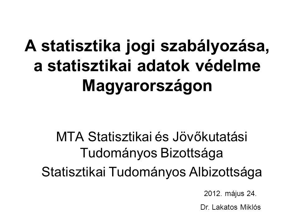 Statisztikai törvények Magyarországon 1874.évi XXV.