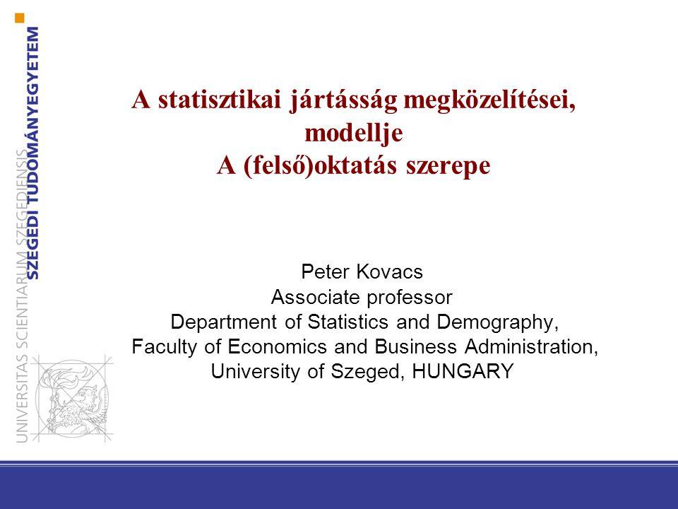 Bevezetés Statisztikai jártasság  Fontosabb adatok ismerete,  alapvető információk kutatási módszerekről  Alapvető információk a vizualizációról  Adatforrások ismerete, adatok értékelése  Mi az elvárt szint.