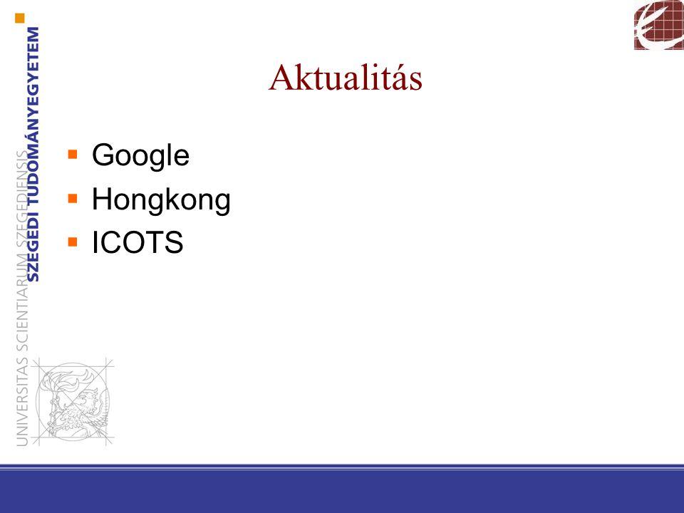 Aktualitás  Google  Hongkong  ICOTS