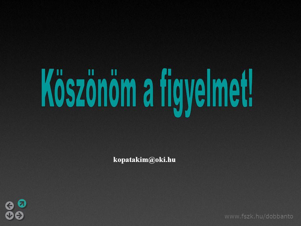 www.fszk.hu/dobbanto kopatakim@oki.hu