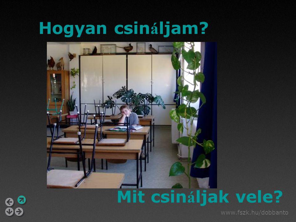 www.fszk.hu/dobbanto Hogyan csin á ljam? Mit csin á ljak vele?