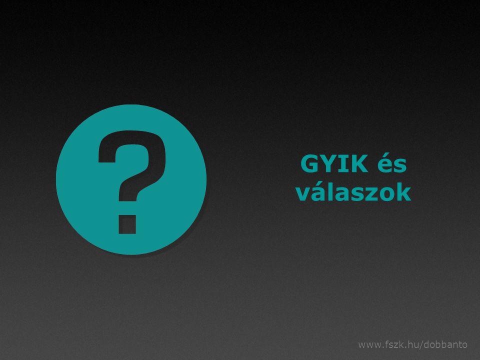 www.fszk.hu/dobbanto GYIK és válaszok