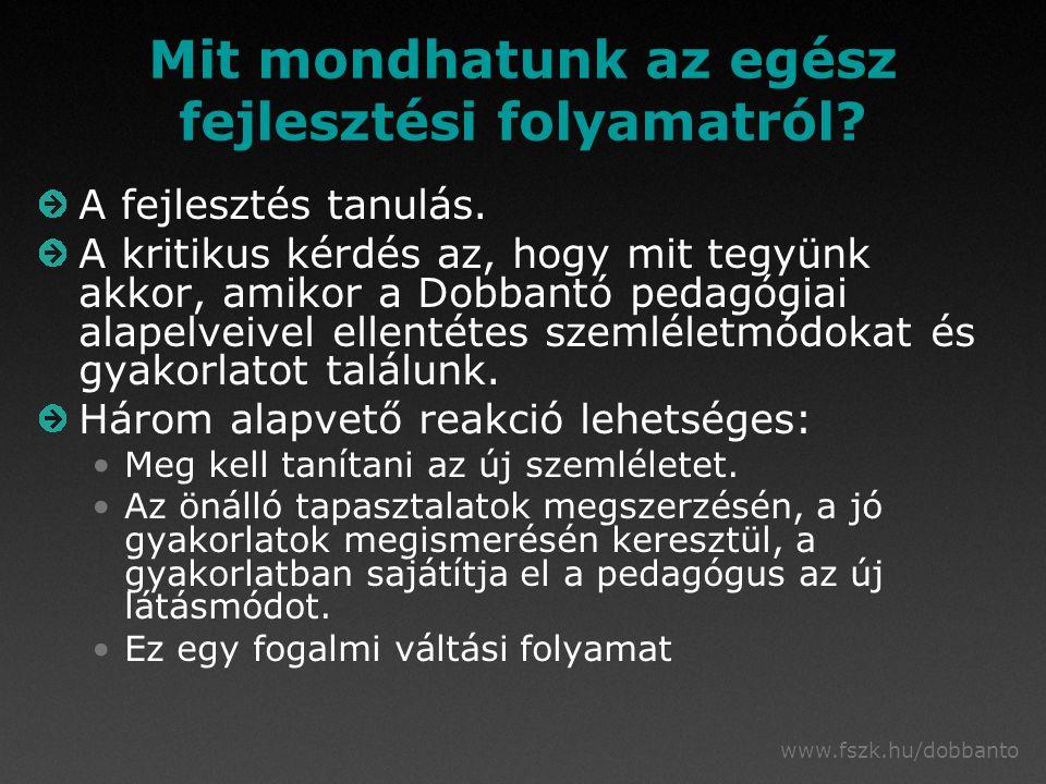 www.fszk.hu/dobbanto Mit mondhatunk az egész fejlesztési folyamatról.