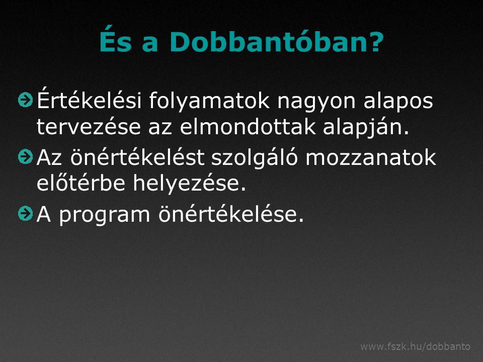 www.fszk.hu/dobbanto És a Dobbantóban.