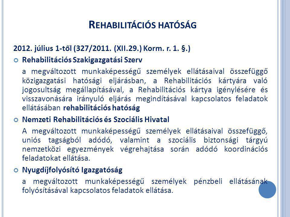 2012. július 1-től (327/2011. (XII.29.) Korm. r.