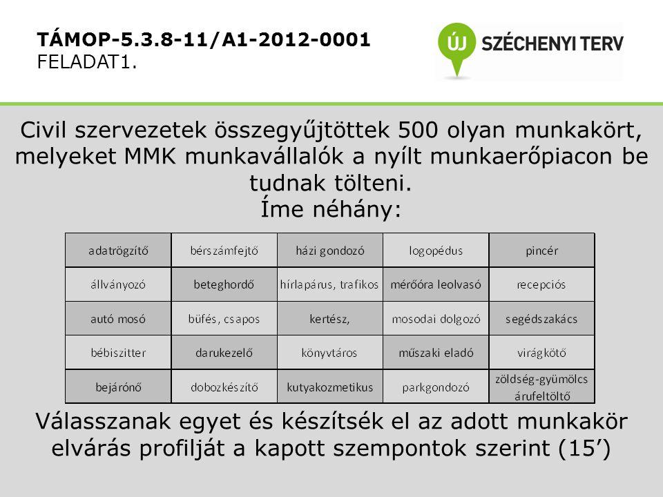 Civil szervezetek összegyűjtöttek 500 olyan munkakört, melyeket MMK munkavállalók a nyílt munkaerőpiacon be tudnak tölteni.