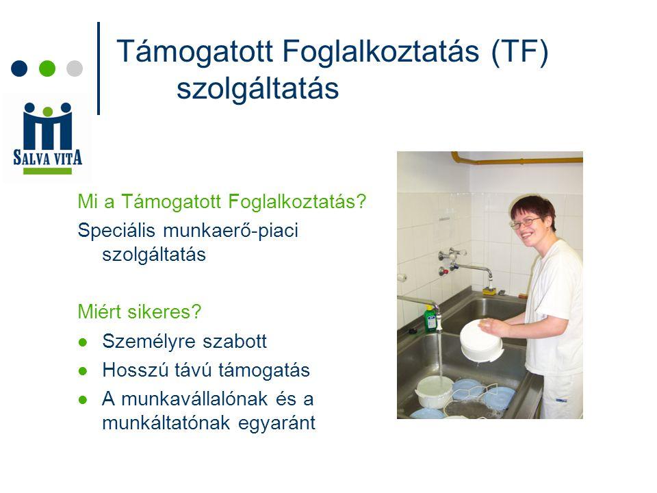 Támogatott Foglalkoztatás (TF) szolgáltatás Mi a Támogatott Foglalkoztatás.
