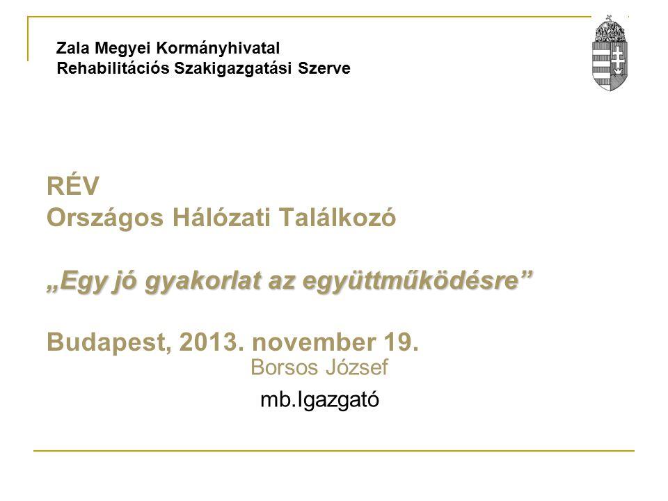 """""""Egy jó gyakorlat az együttműködésre RÉV Országos Hálózati Találkozó """"Egy jó gyakorlat az együttműködésre Budapest, 2013."""