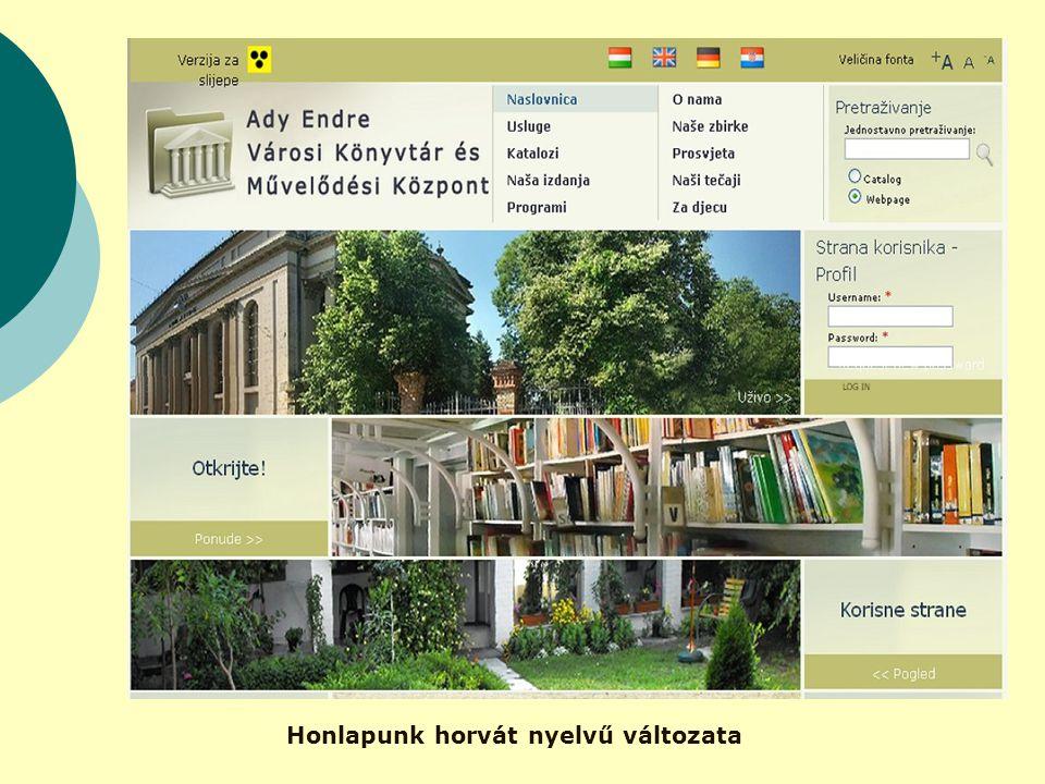 Honlapunk horvát nyelvű változata