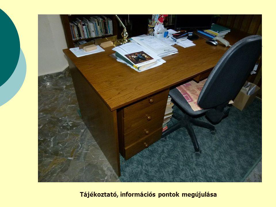 Tájékoztató, információs pontok megújulása