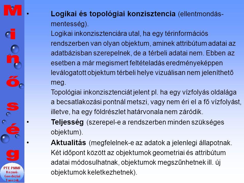 Logikai és topológiai konzisztencia (ellentmondás- mentesség).