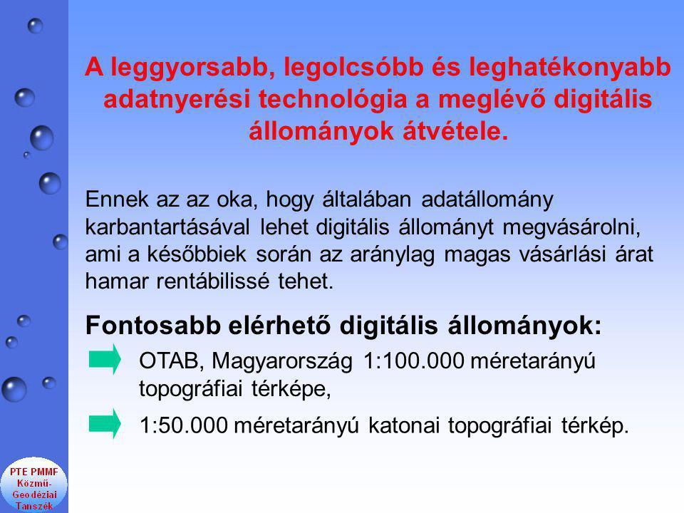 A leggyorsabb, legolcsóbb és leghatékonyabb adatnyerési technológia a meglévő digitális állományok átvétele.