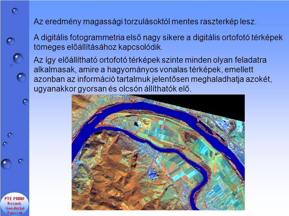 A digitális fotogrammetria első nagy sikere a digitális ortofotó térképek tömeges előállításához kapcsolódik. Az így előállítható ortofotó térképek sz