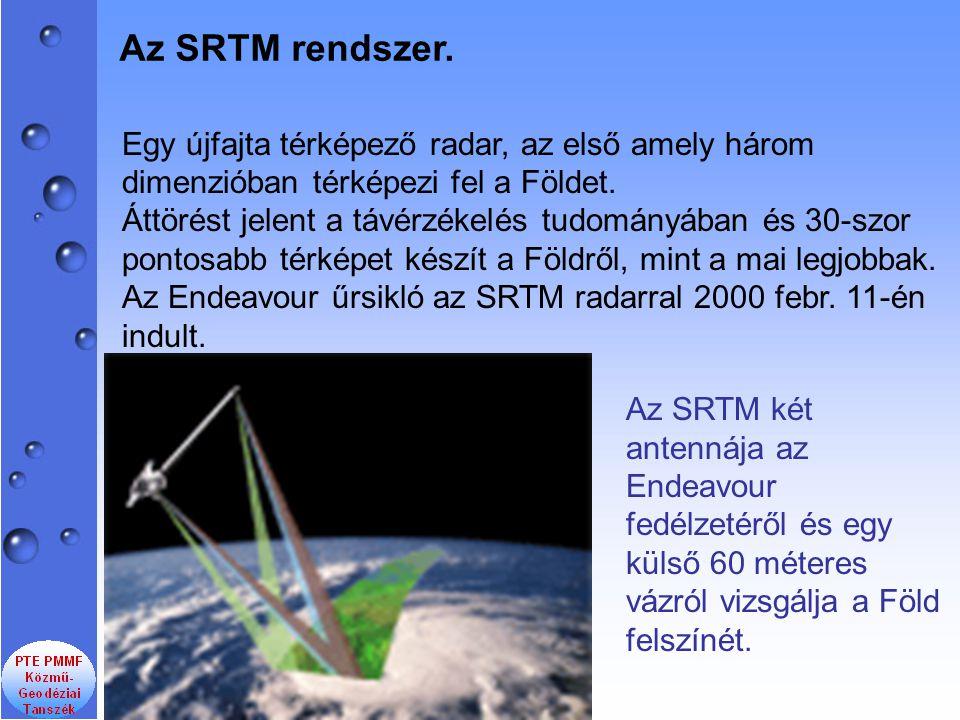 Egy újfajta térképező radar, az első amely három dimenzióban térképezi fel a Földet. Áttörést jelent a távérzékelés tudományában és 30-szor pontosabb