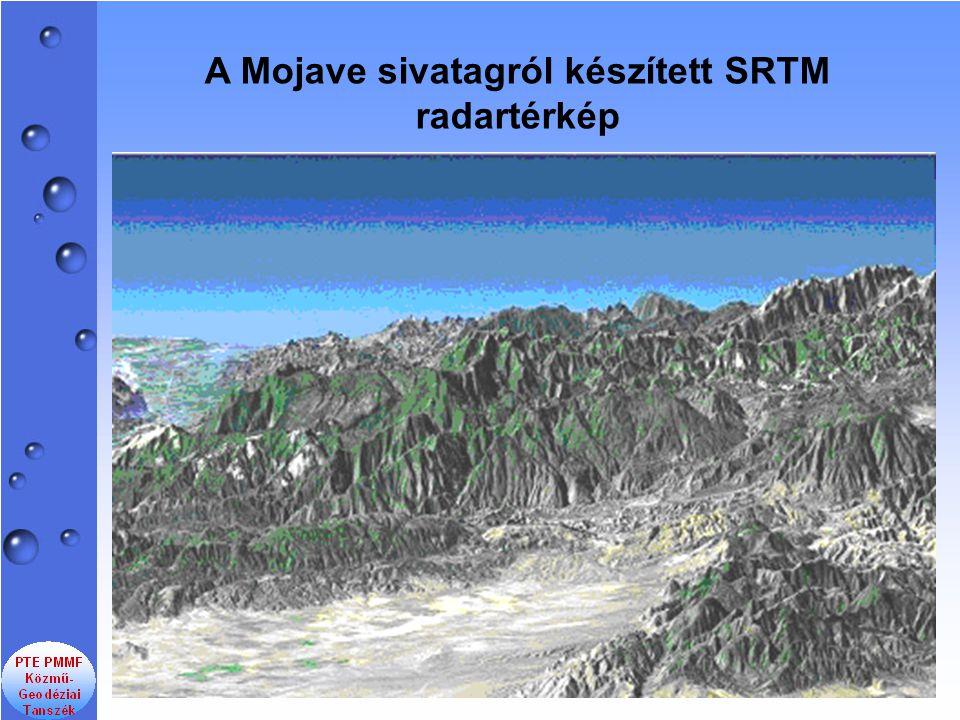 A Mojave sivatagról készített SRTM radartérkép