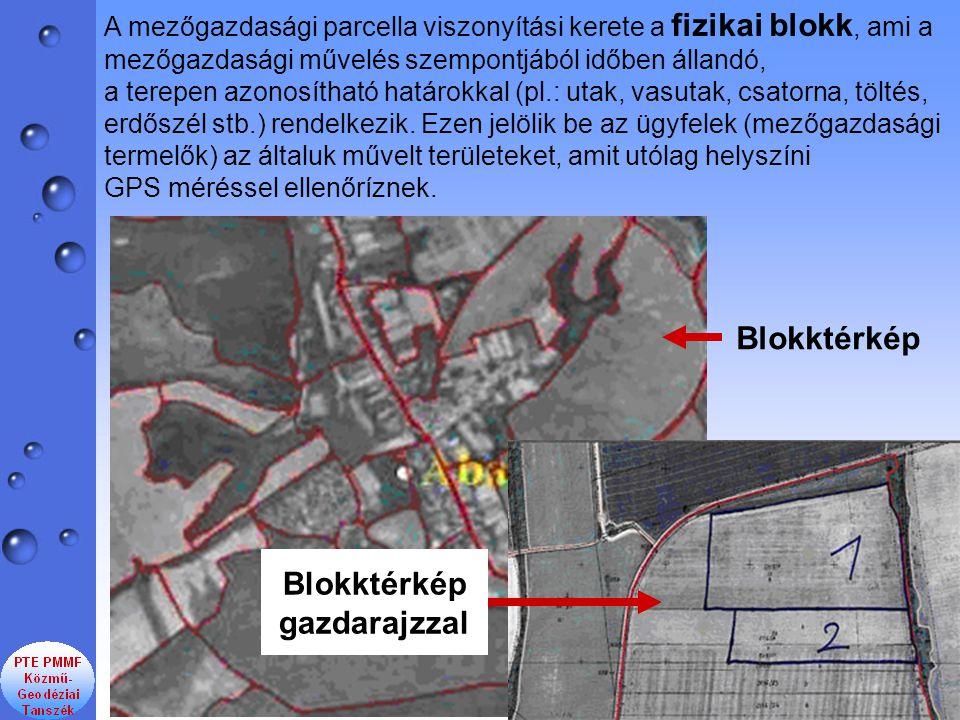 A mezőgazdasági parcella viszonyítási kerete a fizikai blokk, ami a mezőgazdasági művelés szempontjából időben állandó, a terepen azonosítható határokkal (pl.: utak, vasutak, csatorna, töltés, erdőszél stb.) rendelkezik.