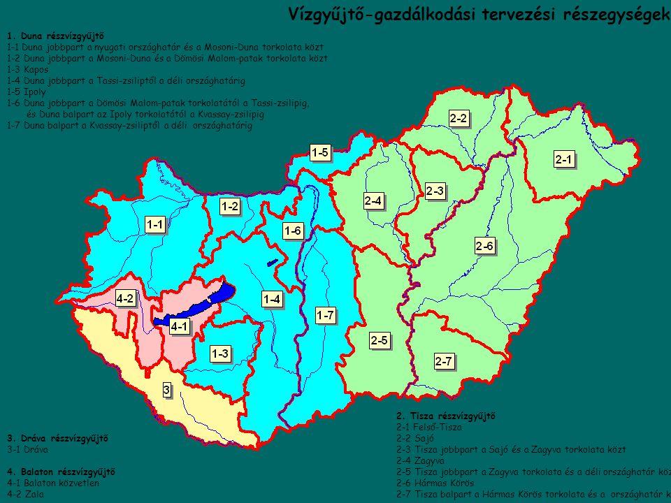 VÍZGYŰJTŐ-GAZDÁLKODÁSITERVEZÉS a Duna vízgyűjtőjének egészére Duna, Tisza, Dráva bontásban, Duna, Tisza, Dráva bontásban, A hangsúly a környezetvédelm