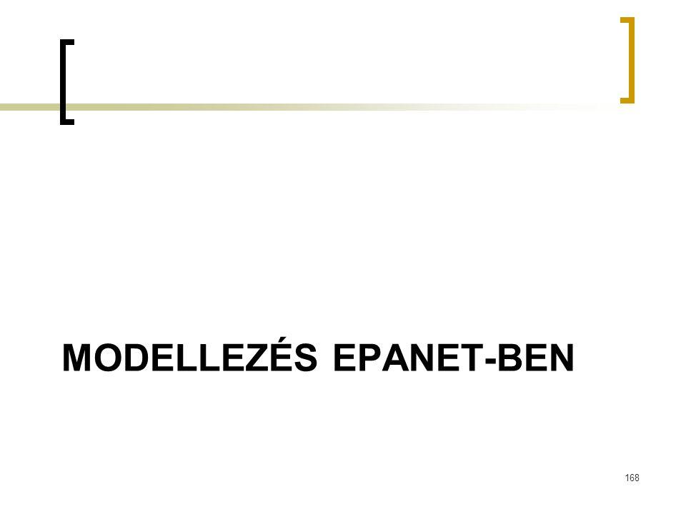 MODELLEZÉS EPANET-BEN 168