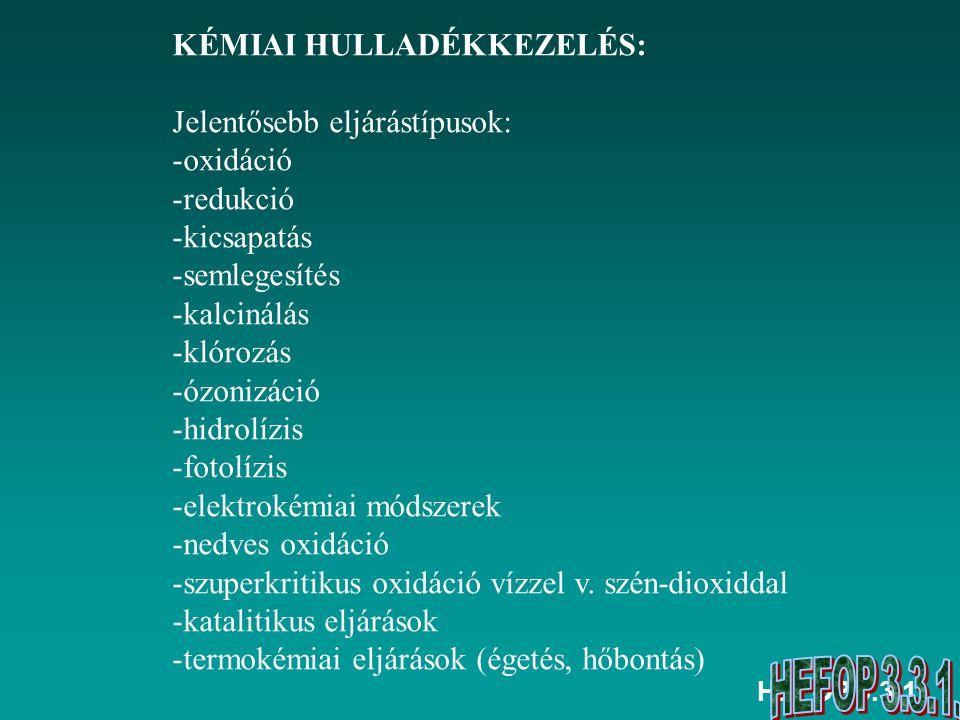HEFOP 3.3.1.ELŐADÁS/GYAKORLAT Felhasznált forrásai Barótfi István: Környezettechnika.