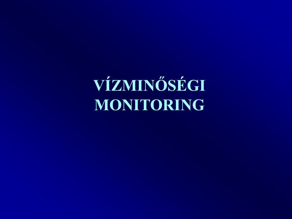 Környezeti monitoring Célra orientált, szervezett mérési és kiértékelési tevékenység, amelynek segítségével a vizsgálandó környezeti elem állapotát, annak változását és ezeknek az ismeretében az állapot romlást előidéző okokat figyelemmel tudjuk kísérni ill.