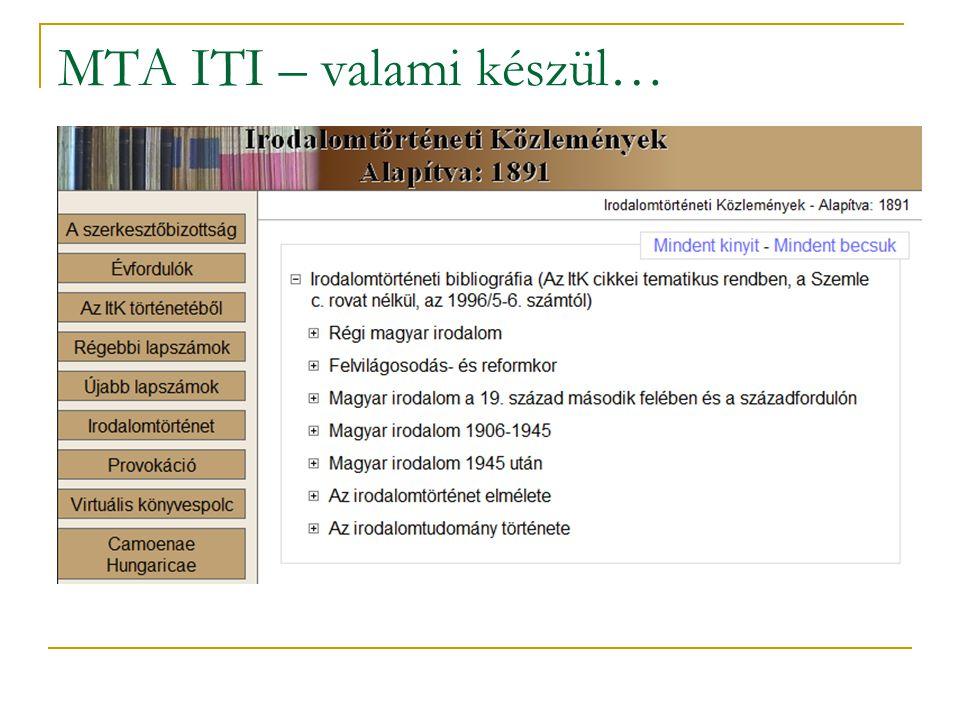 MTA ITI – valami készül…