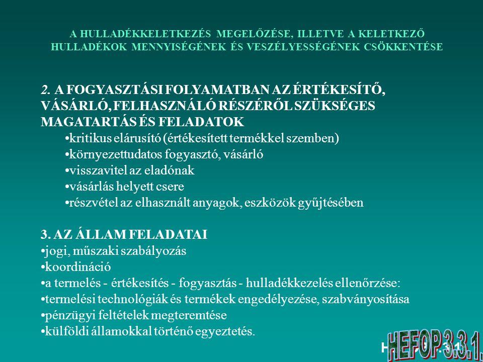 HEFOP 3.3.1. 2. A FOGYASZTÁSI FOLYAMATBAN AZ ÉRTÉKESÍTŐ, VÁSÁRLÓ, FELHASZNÁLÓ RÉSZÉRŐL SZÜKSÉGES MAGATARTÁS ÉS FELADATOK kritikus elárusító (értékesít
