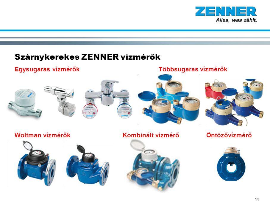 14 Szárnykerekes ZENNER vízmérők Egysugaras vízmérők Többsugaras vízmérők Woltman vízmérőkKombinált vízmérő Öntözővízmérő