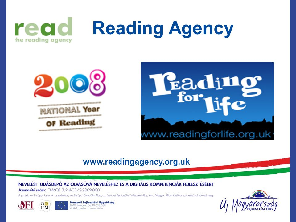 National Literacy Trust www.literacytrust.org.uk Tell Me a Story Vote for Literacy Reading for Life