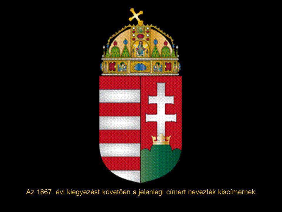 1849-ben néhány címerábrázolásban lekerült a címer tetejéről és a kettős kereszt alól a korona és – a pajzs formájának megváltozásával – kialakult a K
