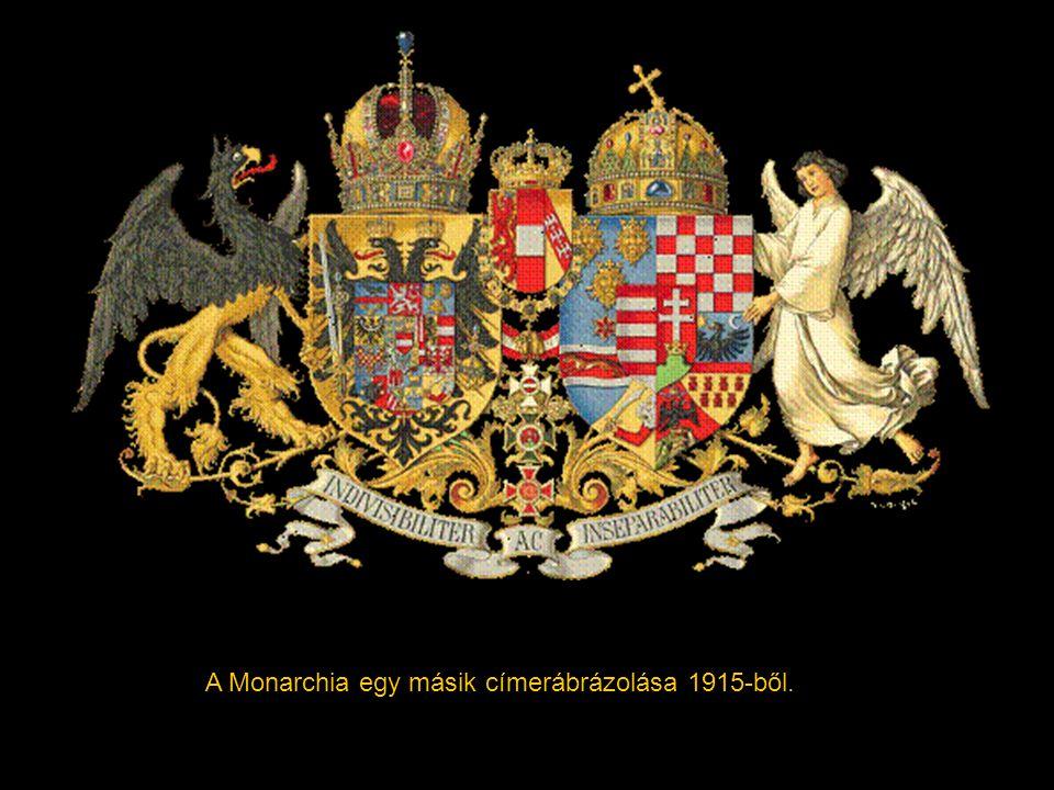 Az Osztrák–Magyar Monarchia nagycímere nem készült el; időnként a kétfejű sast ábrázolták, egyik szárnya alatt Magyarország, másik szárnya alatt Auszt
