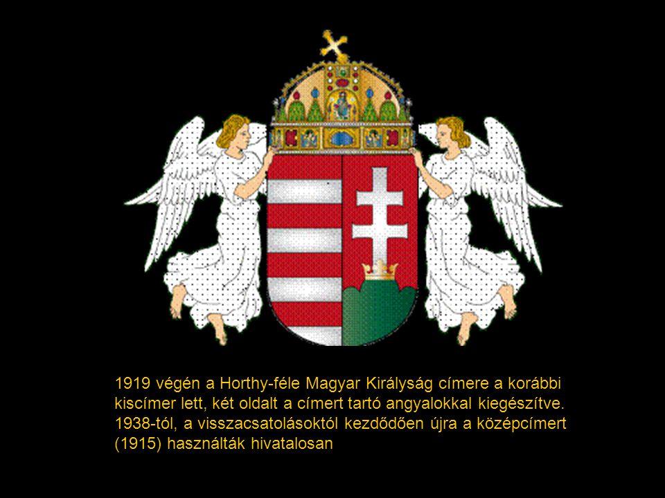 1918-ban az első magyar köztársaság a Kossuth-címert tekintette állami jelképének. A Tanácsköztársaság idején nem vezettek be új címert.