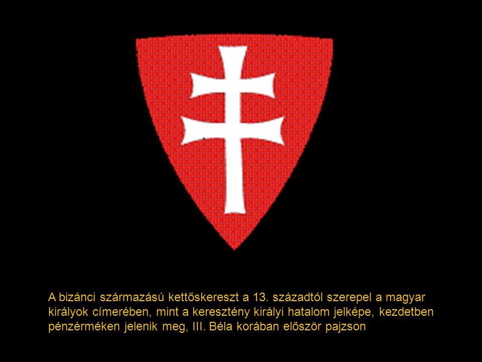Az Anjou-házi királyok örökösödési jogukat hangsúlyozandó megtartották, és kiegészítették az anjouk családi címerében szereplő liliommal. Ennek nyomán