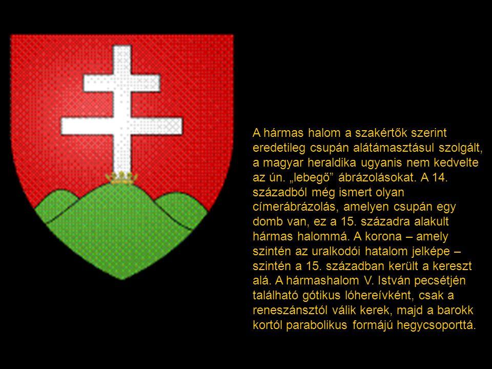 A bizánci származású kettőskereszt a 13. századtól szerepel a magyar királyok címerében, mint a keresztény királyi hatalom jelképe, kezdetben pénzérmé