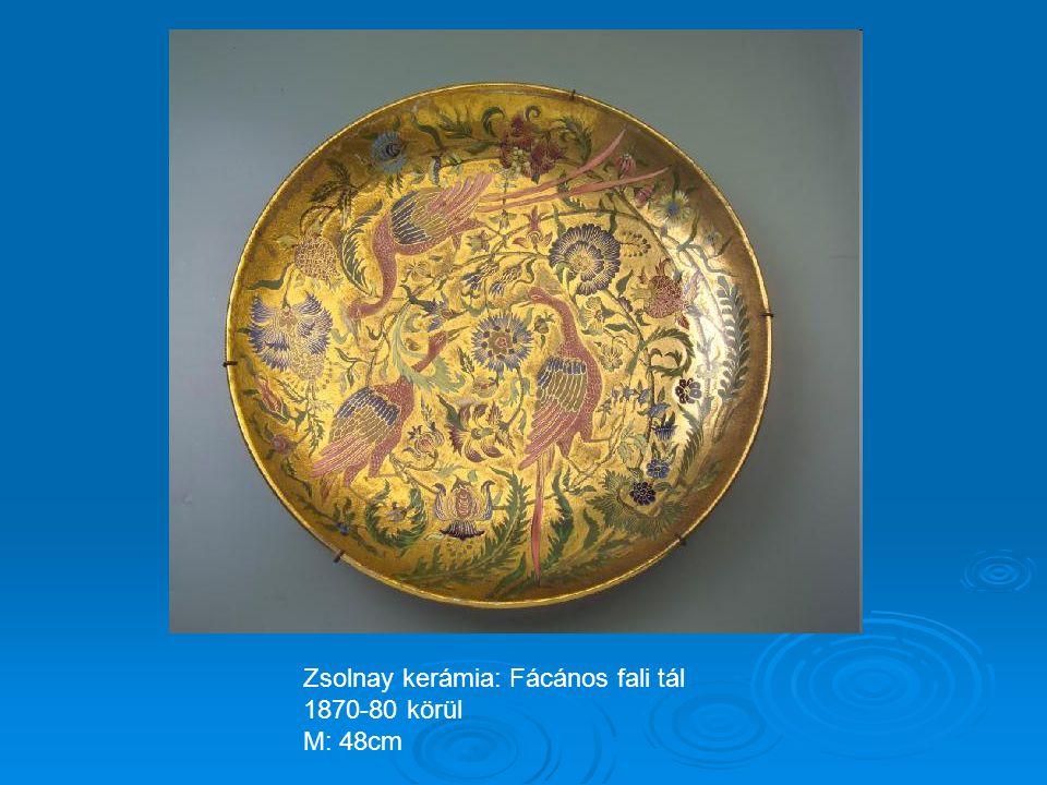 Zsolnay kerámia: Neptun tál 1865-70 körül Magasság: 38cm