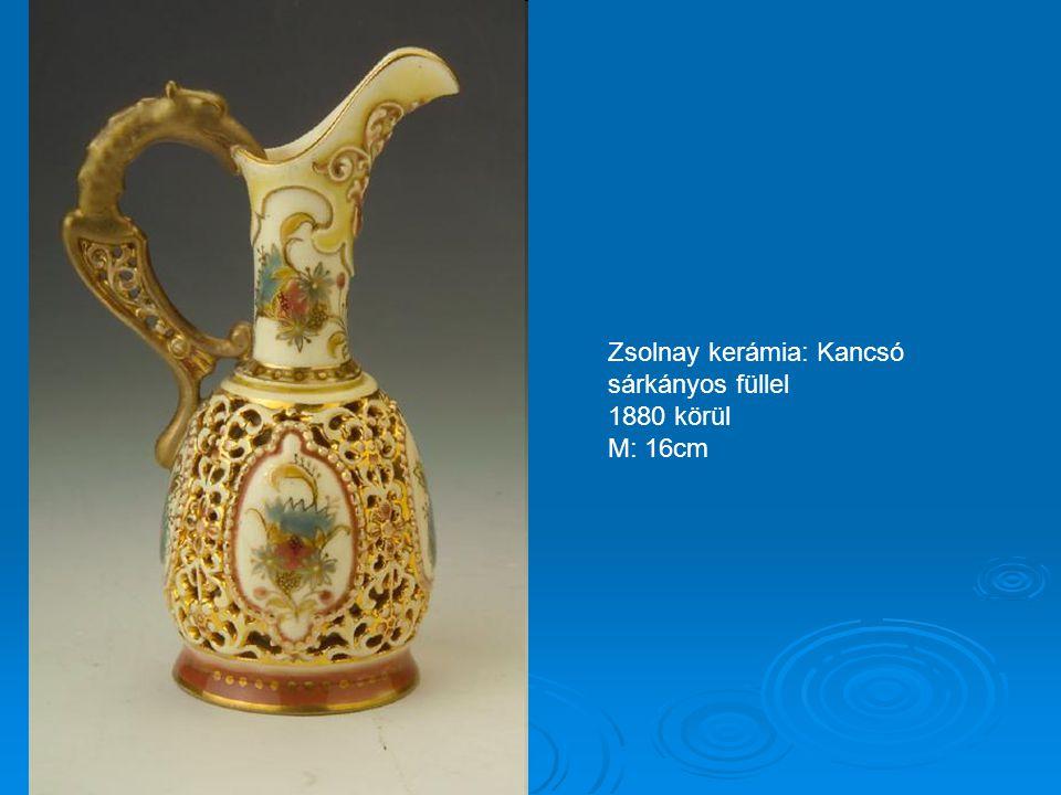 Zsolnay kerámia: Áttört falú kis váza 1880-90 körül M: 9cm