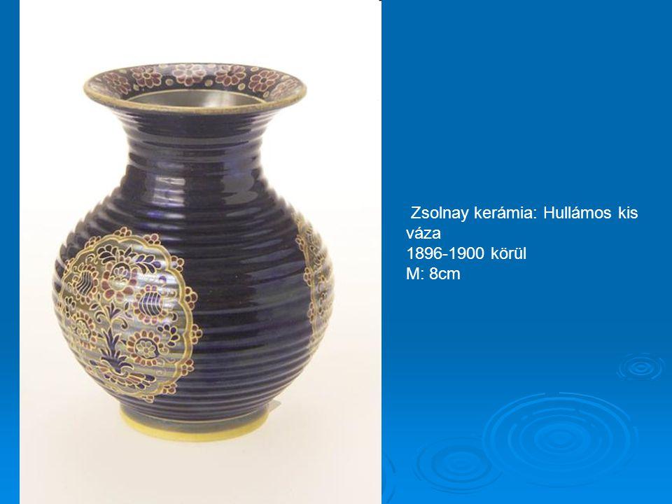 Zsolnay kerámia: Korai eozinos váza, Perzsa mintával 1892-96 között M: 28cm