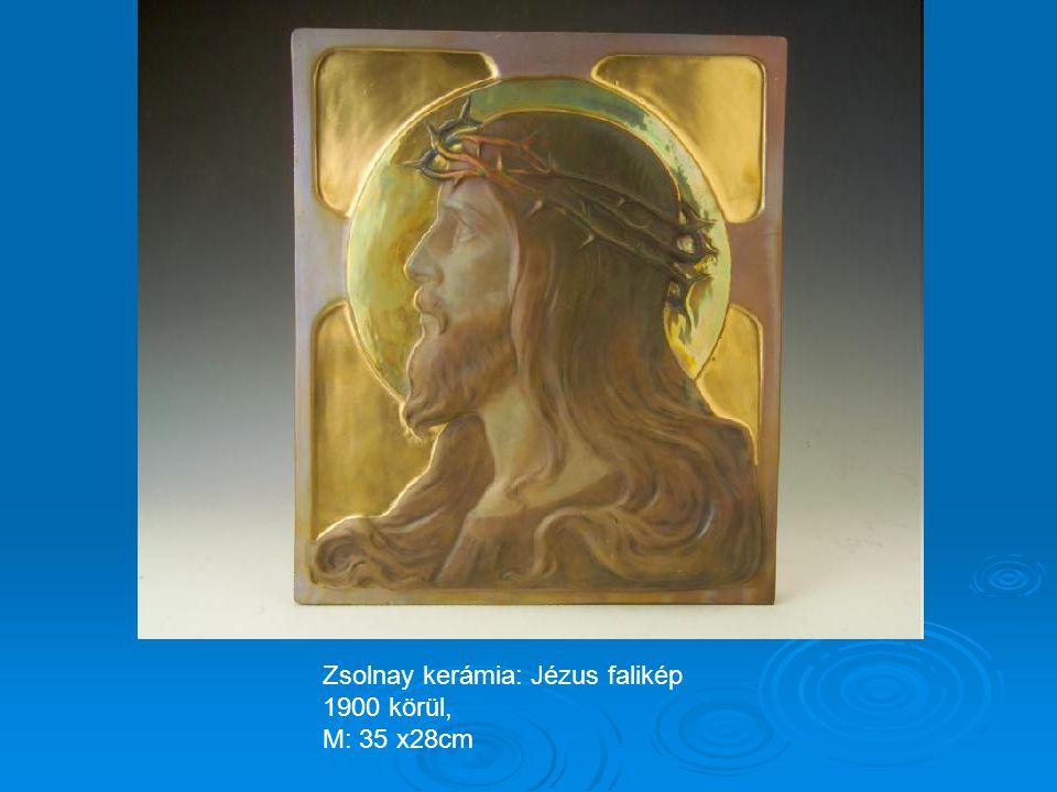 Zsolnay kerámia: Pillangós kaspó 1915 körül M: 15cm