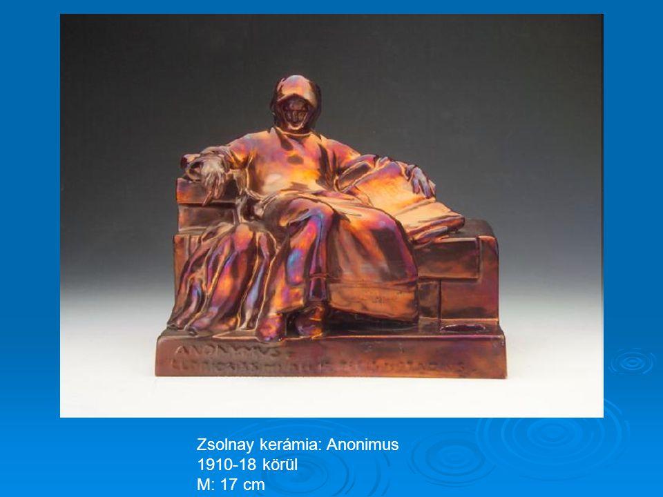 Zsolnay kerámia: Jézus falikép 1900 körül, M: 35 x28cm