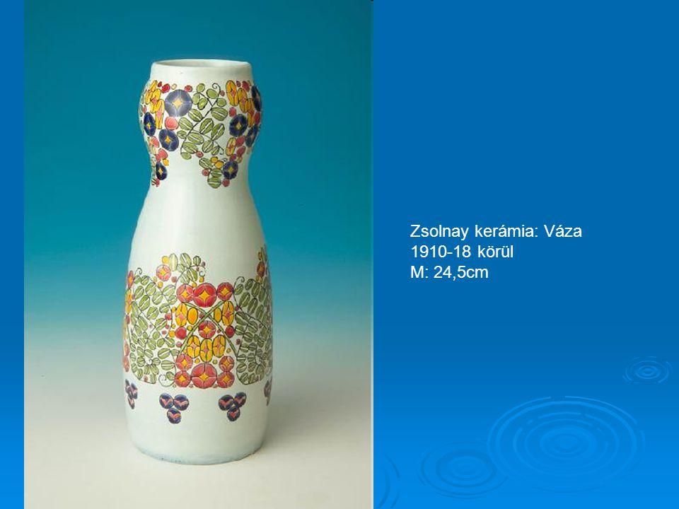 Zsolnay kerámia: Gyertyatartó 1910-18 körül M: 23cm